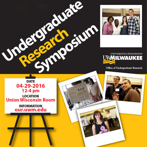 UWM Undergraduate Research Symposium, 2016